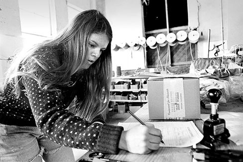 Kris at Chouinard Equipment in 1973