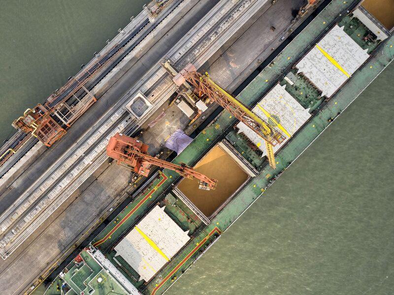 a679f4d84e26 Nansha Port As Mnuchin Says U.S. Open to Facing Penalties in China Trade  Deal