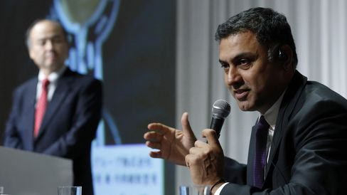 Nikesh Arora and Masayoshi Son
