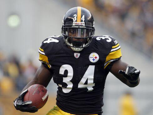 Rashard Mendenhall #34 of the Pittsburgh Steelers