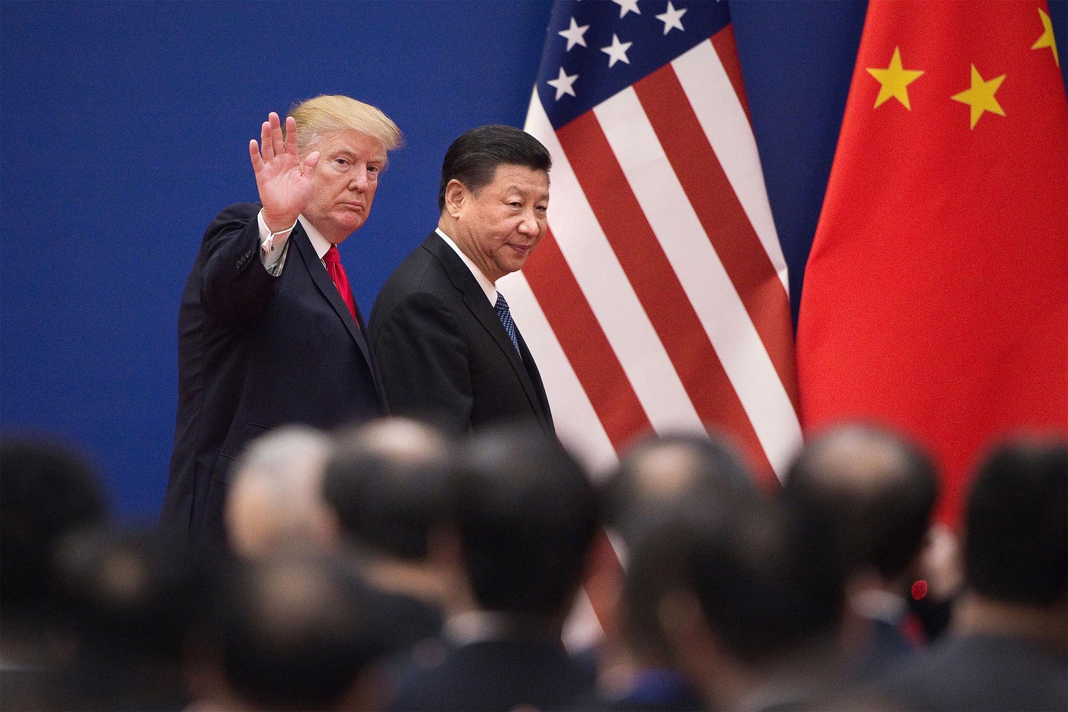 Donald Trump i Xi Jinping w Pekinie w 2017 roku.