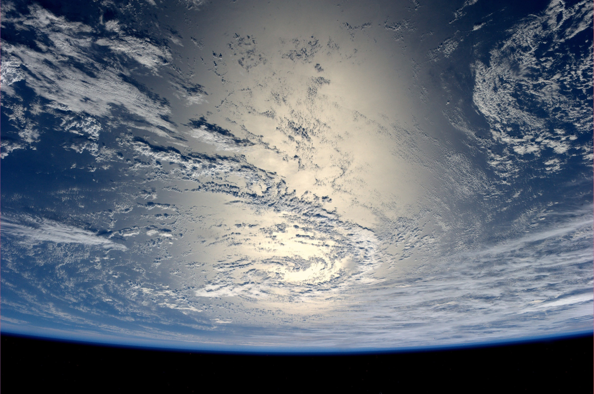 View from the International Space Station, where a photo shoot for a new Estee Lauder product will take place.