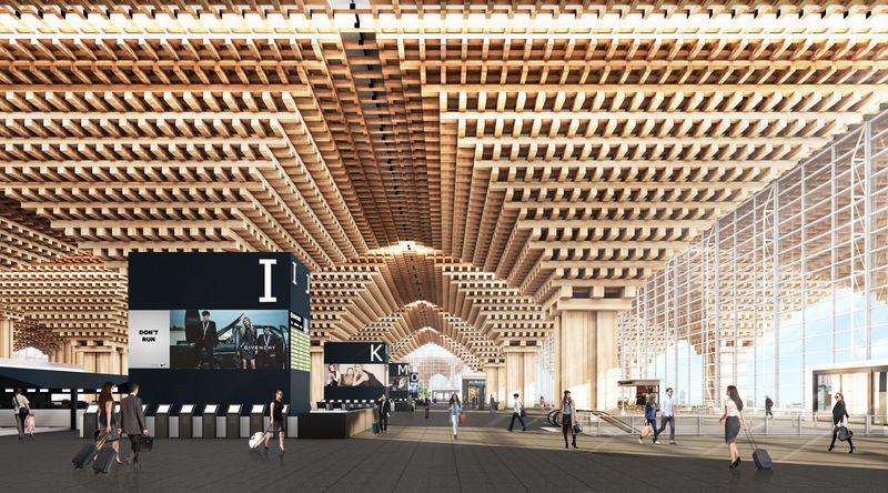 Rendering of Suvarnabhumi Terminal II design proposal. Image: Duangrit Bunnag Architect Limited