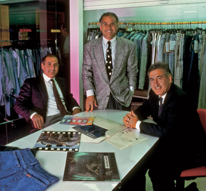 The Nakash bothers Avi, Ralph, and Joe in their New York showroom in 1989