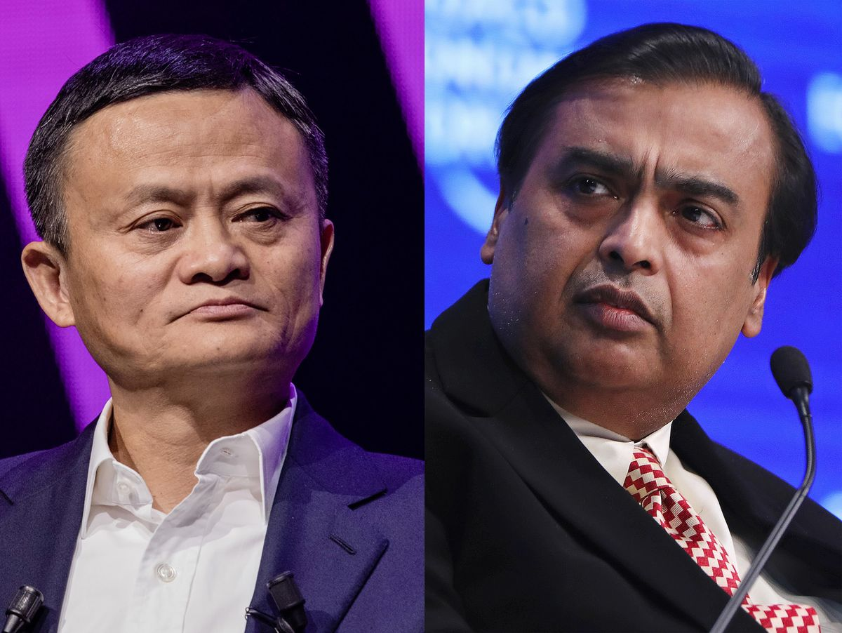 Image result for Mukesh Ambani Jack Ma