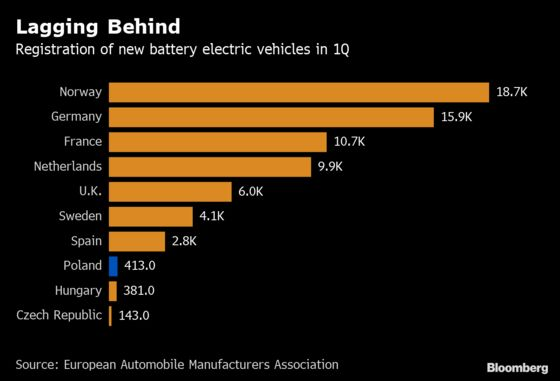 Million-Car Electric Dream Spurs Smoggy Poland to Woo Musk