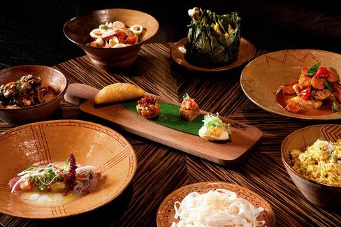 Small plates are meant for sharing unusual flavor combinations at Amaz.