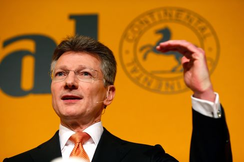 Continental AG Chief Executive Officer Elmar Degenhart