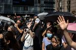 People March In Downtown Hong Kong After Demonstrator Shot