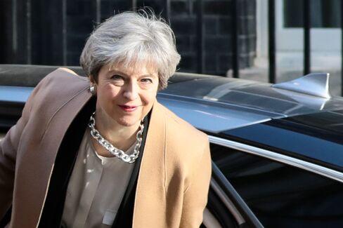 Theresa May on April 19.