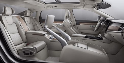 Interior of the S90 Excellence.
