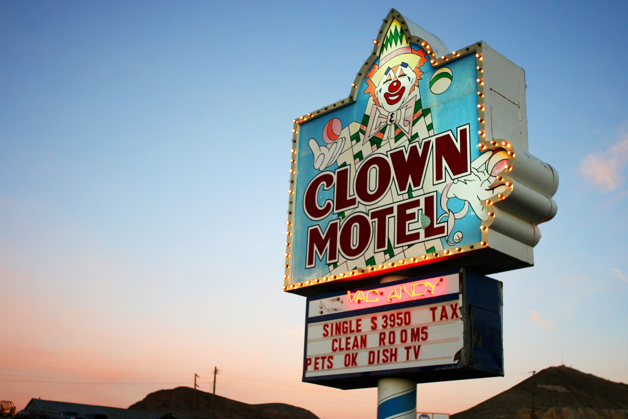 The Clown Motel in Tonopah, Nev.