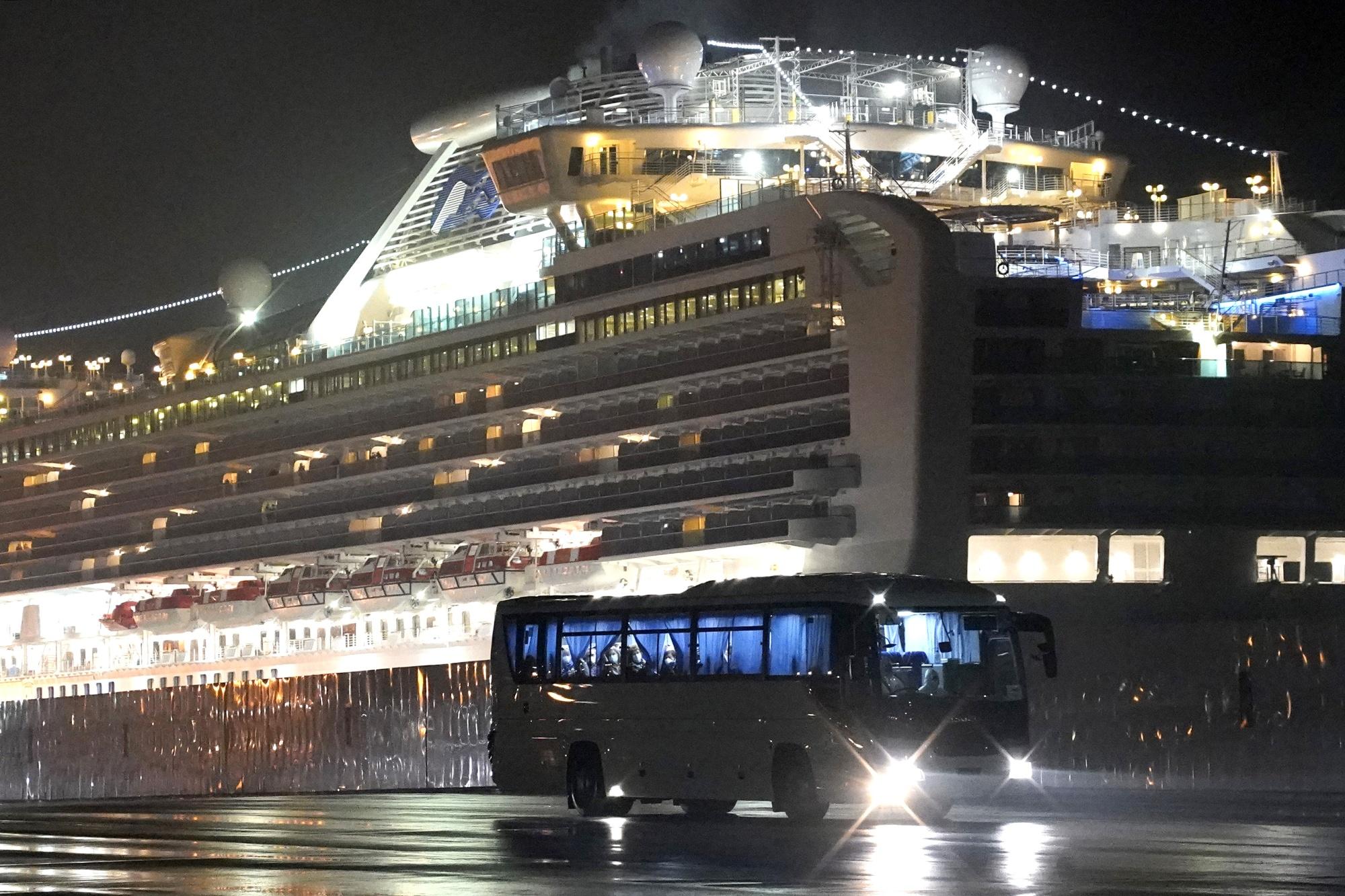 U.S. Evacuate Citizens Onboard Diamond Princess Cruse Ship in Yokohama