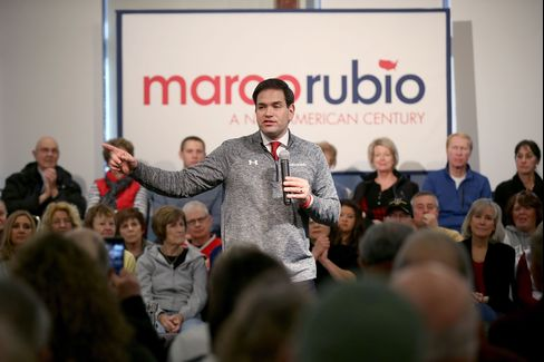 Marco Rubio during a campaign stop in Iowa