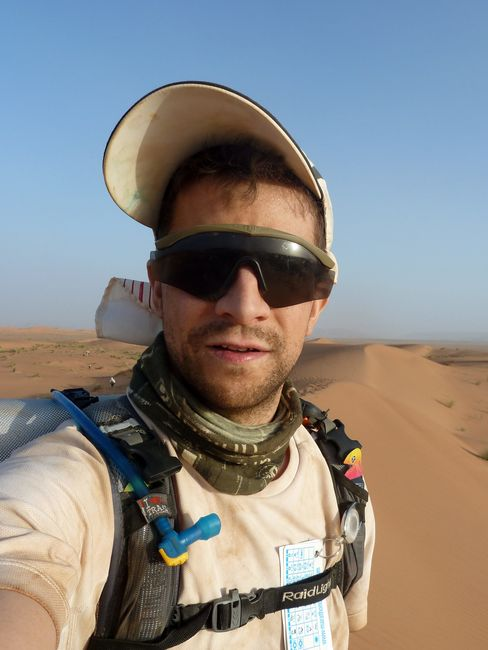 Alex Morales during the 91.7-kilometer stage 4, the longest in the 30-year history of the Marathon des Sables.
