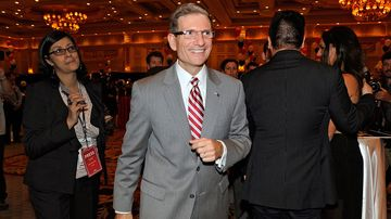 Representative Joe Heck greets supporters on Nov. 6, 2012, in Las Vegas.