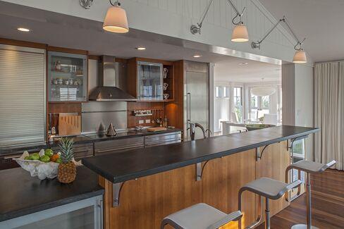 The kitchen with Gaggenau appliances.