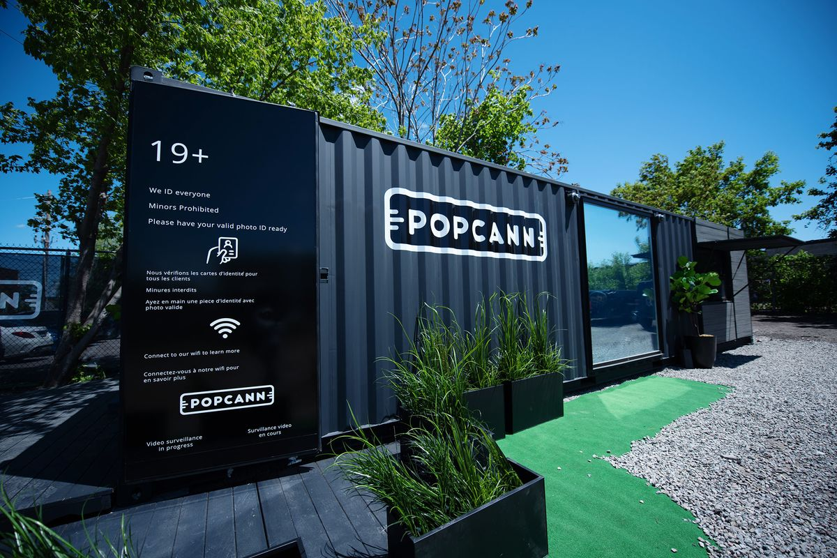 A Popcann pre-fabricated cannabis store.