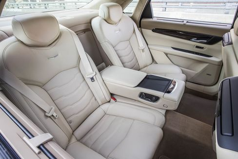 The stitching on the seats is a bit overdone. The heating and cooling and multi-function massage, on the other hand, are just right.