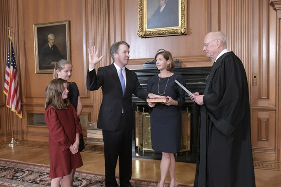 Kavanaugh Takes Oath From Roberts, Becomes New Top Court Justice