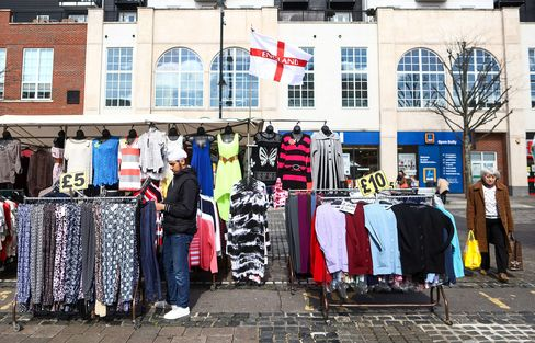 A stall at Romford market.
