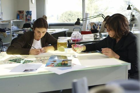 All the fabric and patterndesigns are original to Ferragamo, drawn by hand in their Italianstudio.