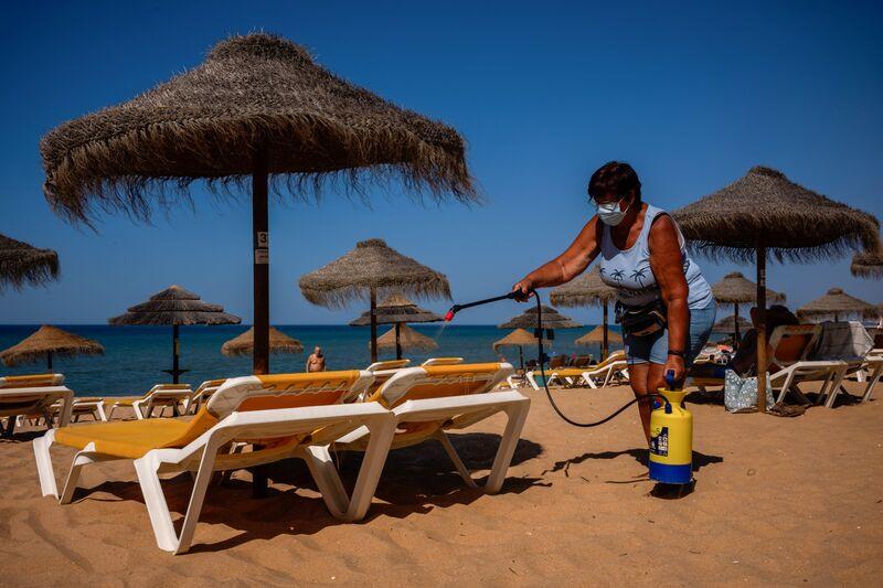 Pandemia uderza w turystykę na południowym wybrzeżu Portugalii
