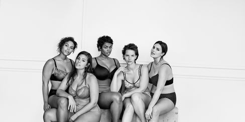 Models pose for Lane Bryant's #ImNoAngel ad campaign.