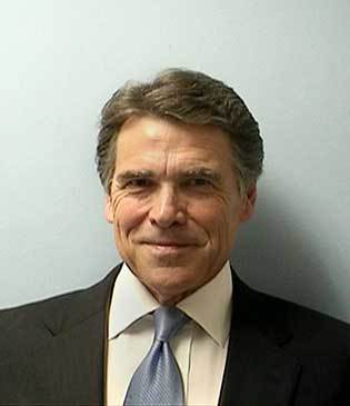 Rick Perry's booking photo