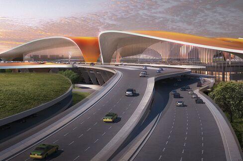 北京新国際空港のターミナルビル予想図