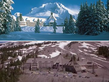Oregon's timberline lodge served as the opening sequence of shining. hotel operators wish film fans would leave it at that.