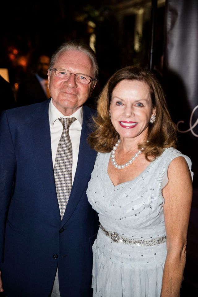Thomas Peterffy, with Lynne Wheat, in Palm Beach in 2017.