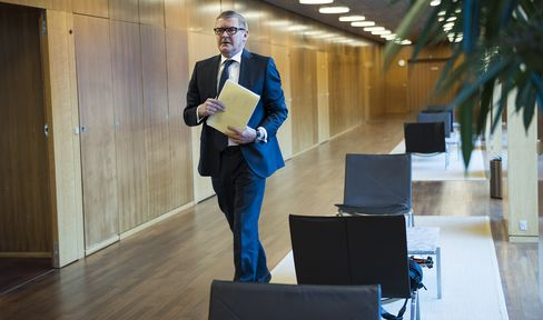 Danish Central bank Governor Lars Rohde News Conference