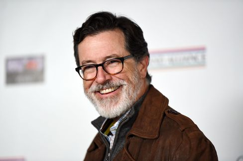 "On hiatus between hosting gigs, Stephen Colbert has grown an enviable salt-and-pepper beard that has fondly been referred to by fans as ""The Colbeard."""