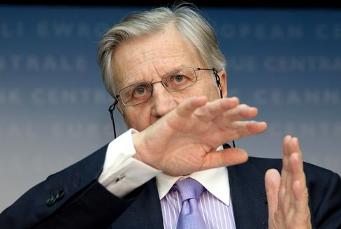 Jean-Claude Trichet, president of th e ECB