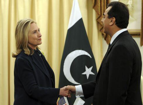 Secretary of State Hillary Clinton in Pakistan