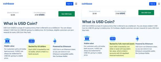 Coinbase Vowed Token's All-Cash Backing; That's Not True
