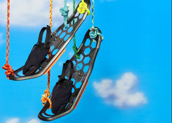 These Carbon Fiber Snowshoes Can Elevate Bulky Winter Footwear