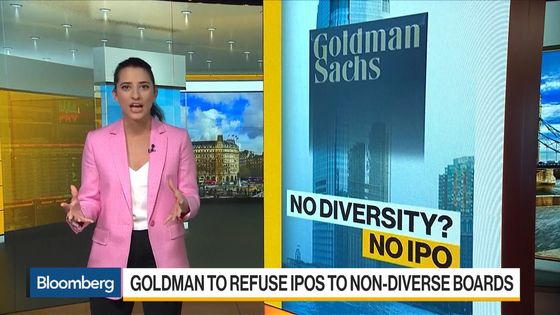 Goldman to Refuse IPOs If All Directors Are White, Straight Men