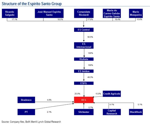 Structure of the Espirito Santo Group