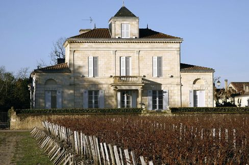 Chateau Montrose and its vineyard stand in Saint-Estephe.