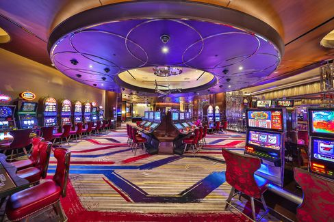 The high-limit slot machine lounge at Cosmopolitan Las Vegas