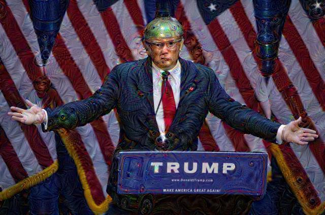 Donald Trump, DeepDream