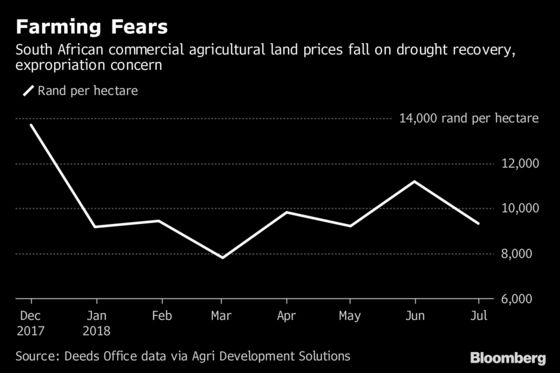 Land-Seizure Talks Have Hit South Africa's Farming Industry