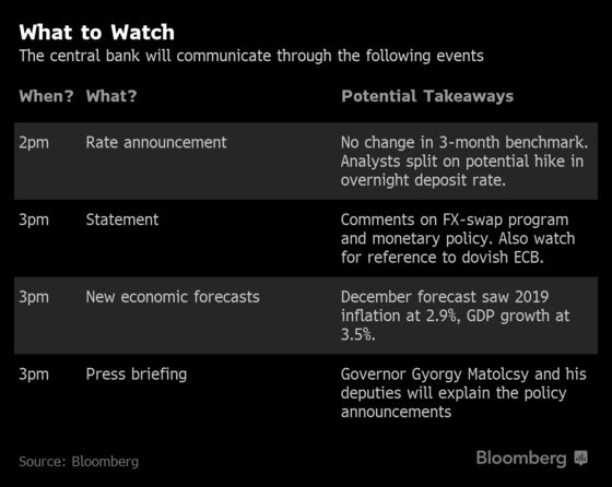 Hungary Poised to Turn Against Dovish Tide: Decision Day Guide