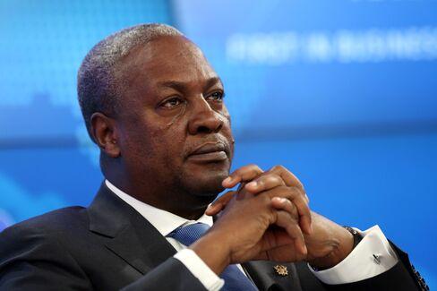 Ghana's President John Dramani Mahama