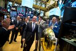 Trading On The Floor Of The NYSE As Stocks Tumble