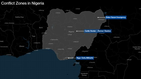 Rising Violence in Central Nigeria Risks Buhari's Election
