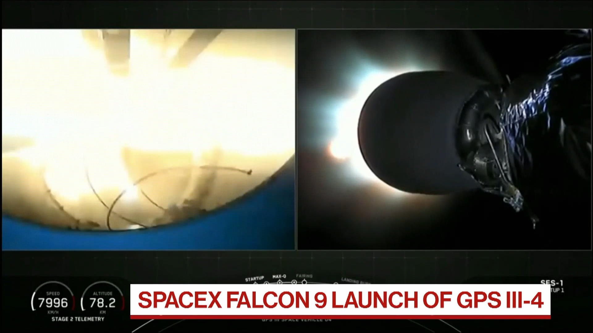 SpaceX Launches Falcon 9 with GPS III Aboard