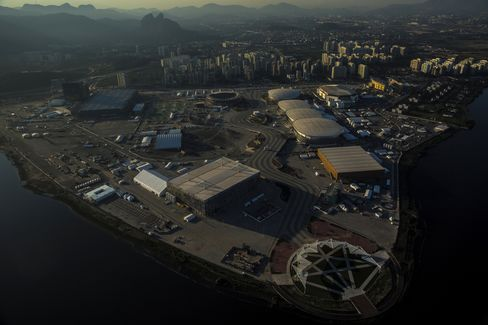 The Olympic park in Barra da Tijuca, Rio de Janeiro.